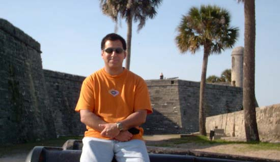 At the Castillo de San Marcos, Saint Augustine, Florida - One of the oldest structures in America, under seven different national flags.